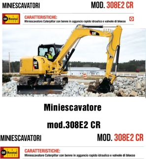 Miniescavatore Caterpillar 308E2 CR